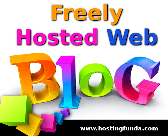 What is freely hosted web blog
